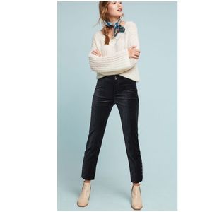 NWT Anthropologie essential Slim velvet trousers